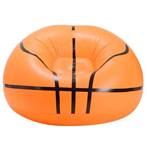BESPORTBLE Aufblasbarer Stuhl Perfekt für Erwachsene Und Kinder. Bequeme Innenmöbel für Wohnheimpartys (Basketball)