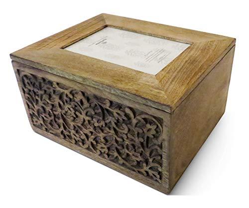 Purity Erinnerungsbox aus Holz, mit integriertem Bilderrahmen
