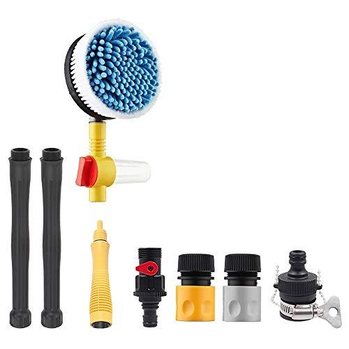 Water G-un Autorotatie autowasseretteborstel hogedrukreiniger Spray auto wassen Foam Lance Auto Wassen Tool QPLNTCQ (Color : 03black, Size : Free)