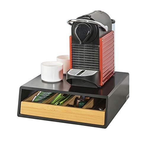 SoBuy®FRG280-SCH,ES Soporte para Cápsulas de Café, Estante cafetera,estantería de cocina,Con un cajón
