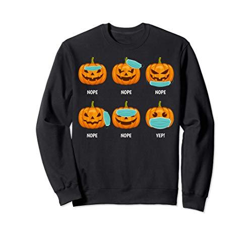 Máscara calabaza Halloween Distanciamiento social incorrecto Sudadera
