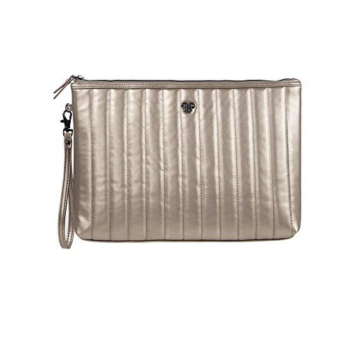 Getaway Wristlet Large Makeup Case (Pewter)
