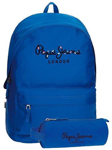 Pepe Jeans 66823A9 Harlow Mochila Escolar, 42 cm, 22.79 litros, Azul