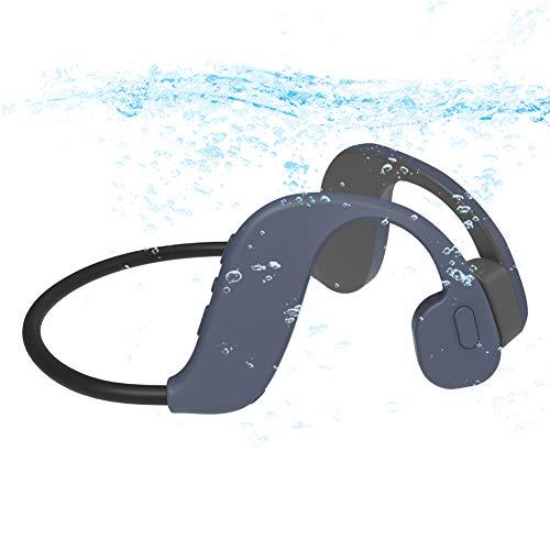 AQUYY Schwimmen Kopfhörer Bluetooth 5.0 mit Offenem Ohr, IP68 Wasserdicht 8GB MP3 Musikplayer, Sportkopfhörer Kabellose Headset mit Knochenleitung zum Laufen Fahren Radfahren Gray 8G