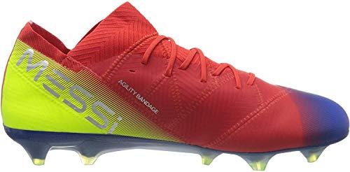 adidas Nemeziz Messi 18.1 FG, Botas de Futbol para Hombre, (Rojact/Plamet/Fooblu 000), 44 2/3 EU