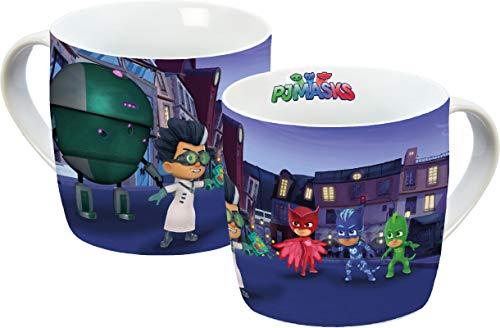 PJ MASKS 13602 Owlette, Catboy, Gekko, taza de porcelana, taza de café, taza infantil, taza de porcelana, multicolor