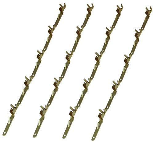 Aerzetix - 20 x pin perno maschio, contatti connettore autoradio ISO cavo fascio QUADBLOCK spina .