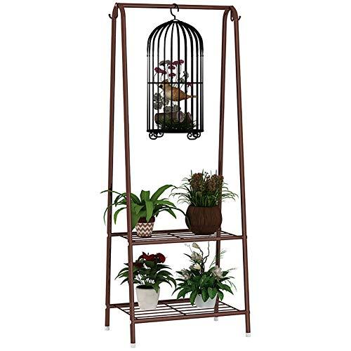 KELE Fer étagère de Fleur Casiers Stand,Support présentoir Multifonctionnel Acier Inoxydable Porte Pots de Plante-C