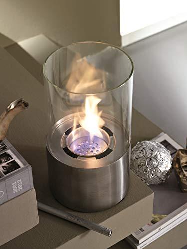 Design Twist Pierres Lumy Bioethanol-Kamin aus Metall, Stahl