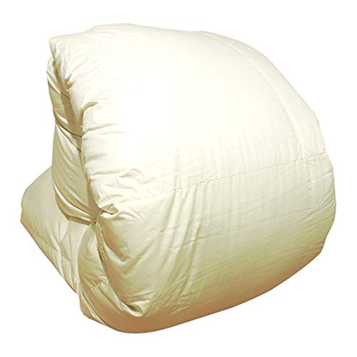 ドア農業のブレンド羽毛布団 増量 日本製 ベビー アイボリー無地 ホワイトマザーダックダウン93% 400dp かさ高165mm以上 綿100%生地使用 95×120cm 消臭抗菌 アレルGプラス加工