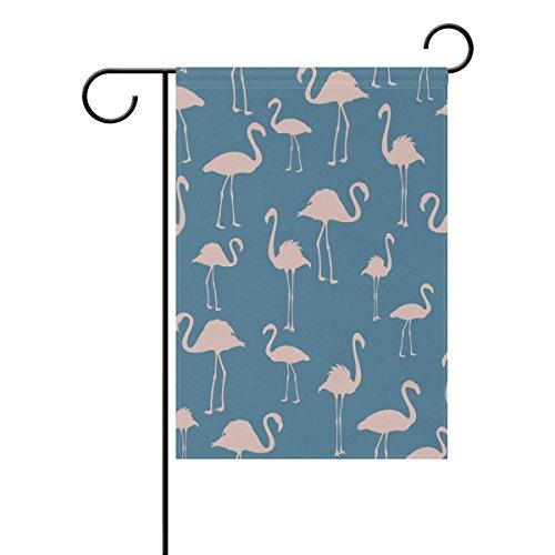 Jstel Home Flamingo Oiseaux exotiques Tissu Polyester drapeaux de jardin Lovely et résistant aux moisissures personnalisés imperméables de 71,1 x 101,6 cm