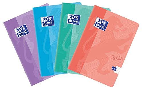 Oxford Touch Pastel zeszyt szkolny A5, 60 arkuszy, w linie, 5 sztuk w opakowaniu, mieszanka kolorów, 400123214