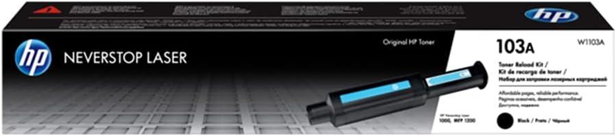 HP 103A Neverstop Laser Toner Dolum Seti 2.500 Sayfa (W1103A), Siyah