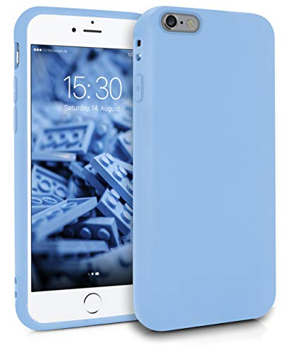 MyGadget Friendly Pocket Custodia TPU per Apple iPhone 6 / 6s - Case Ultra Morbida con Bordi Rinforzati – Cover Silicone Antiurto e AntiGraffio - Blu Chiaro