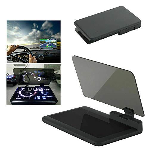 Riloer Proyector universal de pantalla HUD para coche, de 6 pulgadas, para teléfono, navegación, GPS
