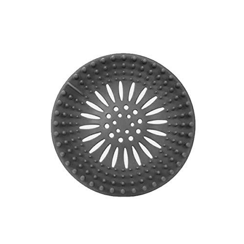 nbvmngjhjlkjlUK Ablaufsieb, runder Boden Ablaufdeckel Abdeckstopfen Wasserfilter Duschabdeckungen Waschbecken Sieb (grau)