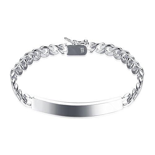 fashionbeautybuy donne uomini moda cerchi geometria bracciale rigido placcato argento Corpo catena gioielli Wristband