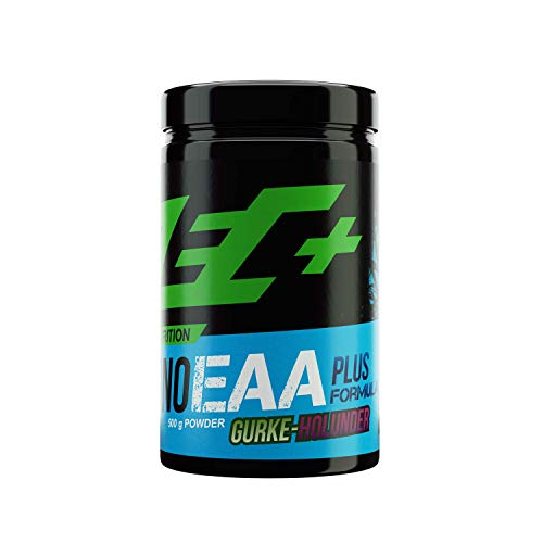 ZEC+ NUTRITION Aminosäuren Supplement AMINO EAA FORMULA PLUS 500g Gurke-Holunder