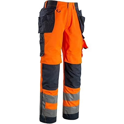 Mascot 15531860-14010-82C58 Wigan Pantalon d'artisan Taille L82 cm/C58 Orange/Bleu