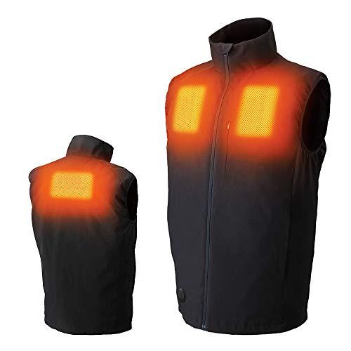[アイリスオーヤマ] ヒートウェアインナーベスト 電熱ベスト ブラック S
