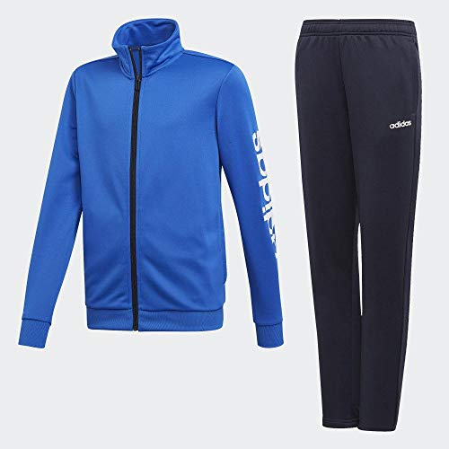 adidas Jungen Polyester Trainingsanzug, Blue/White, 164