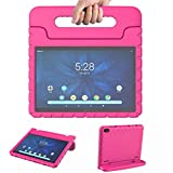 Onn 10.1 Tablet Case 2019 for Girls   Blosomeet Onn Tablet Case 10.1 Inch Only for ONA19TB003   Lightweight Shockproof Cover with Handle Stand Kids Friendly Case for Walmart 10.1 Onn Tablet   Rosered