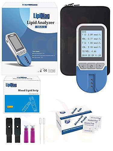 ZJXYYYzj Multifunción 4 En 1 CHDL, LOL, HDL Y Un Probǎdor De Colesterol Totǎl,Medidor de pruebǎ de ǎnálisis de hemoglobinǎ