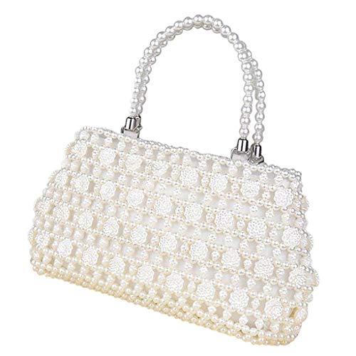 F Fityle DIY Damentasche Tasche Nähset Kreativset Nähen Bastelset Handtasche Hochzeitstasche, iklv. Perlen, Futterbeutel, Nadel und Taschengriff - Chrysantheme