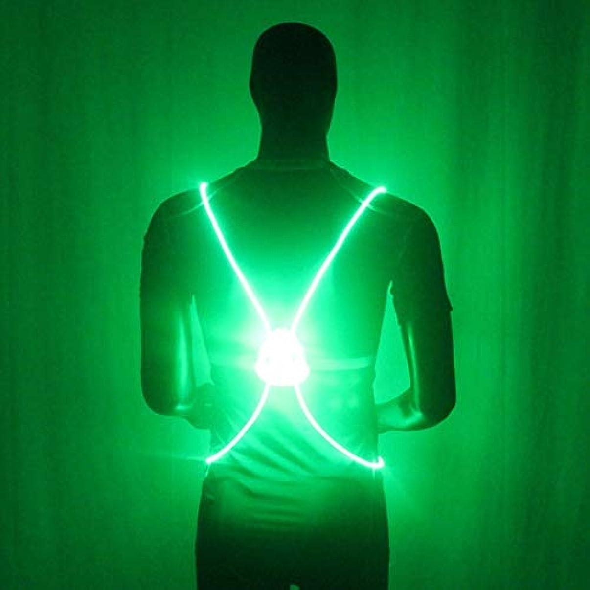 配管暖炉罰Profeel LED反射ベスト、LEDランニングベスト&ベルト、LED照明安全ベストベルトジャケット、安全ベルトストラップナイトランニングサイクリンググロー