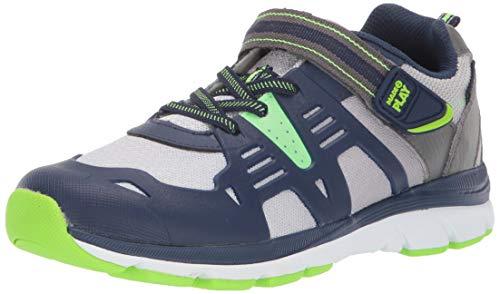 Stride Rite Boys' Made2Play Ashton Sneaker, Navy/Lime, 11.5 M US Little Kid