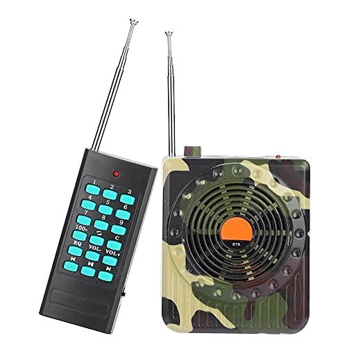 MKIU Richiamo di Uccelli Mimetici, Trappola per Uccelli Elettronica Ricaricabile da 400-600 M Lettore Mp3 Remoto Wireless da 32 W Altoparlante da Richiamo per La Caccia