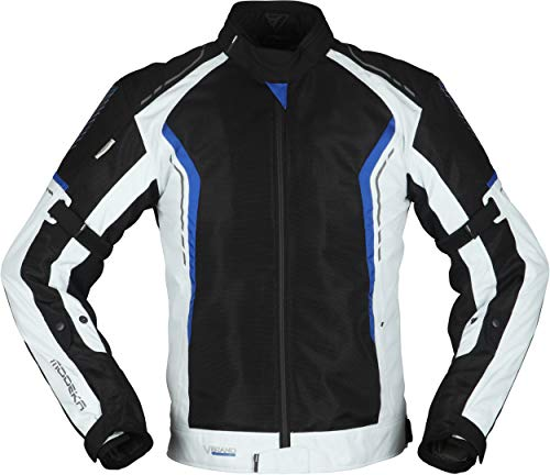 Modeka Khao Air - Chaqueta textil para moto (talla 3XL), color negro, gris y azul