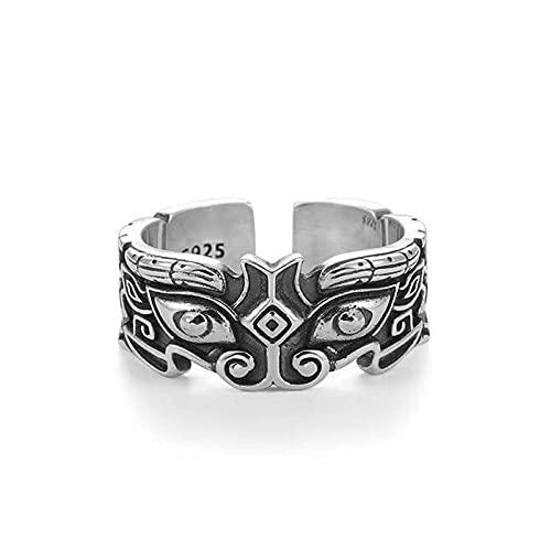 Anillo de mito de bestia de estilo chino retro, anillo de santo patrón, joyería de dedo con personalidad de Hip Hop, anillos de aleación para hombres y mujeres
