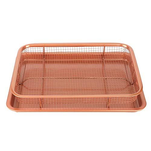 Anti-aanbaklaag hoge prestatie braadpan van koolstofstaal voor kalkoenroosters bakvorm voor kalkoen braden kippen ham 30 x 25 cm