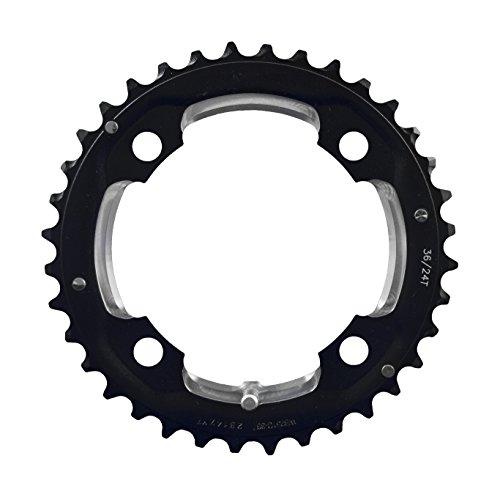 FSA Pro 2 x 10 MTB - Cadena, Color Negro, tamaño 104 × 36T (12mm Pin)
