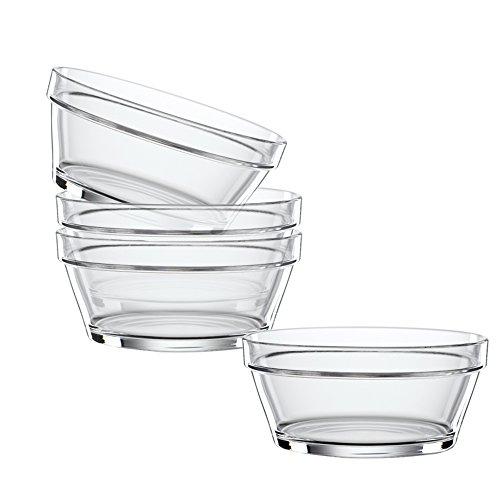 Spiegelau & Nachtmann, 4-teiliges Schalen-Set, 14 cm, Kristallglas, Bistro, 2670144