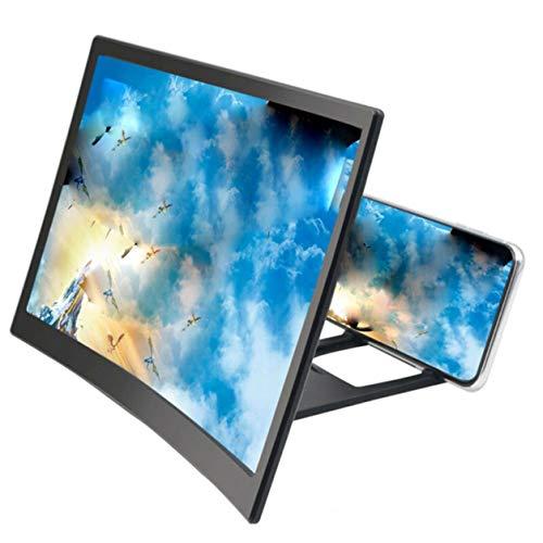 YXDS Lupe 12 Zoll 3D gebogen Handy Handy Bildschirmverstärker Acryl 3D Bildschirm Lupe Multifunktionale Lazy Support