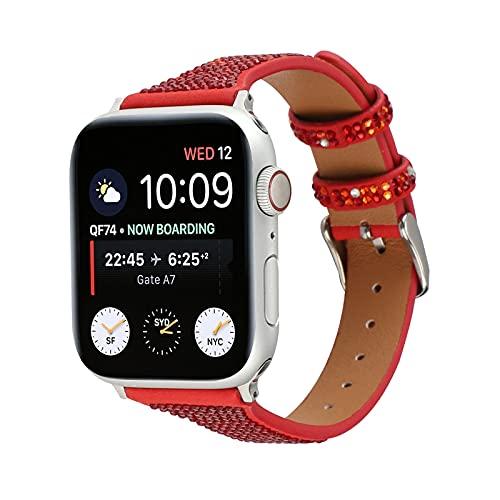KAEGREEL Correa de Cuero para Apple Watch para Apple Watch SE 6/5/4/3/2/1, Correa de Repuesto Compatible con Iwatch 38 mm / 40 mm / 42 mm / 44 mm para Hombres/Mujeres,42mm/44mm