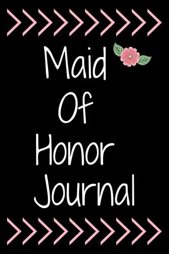 Maid Of Honor Journal Notebook Bridal Party Gifts: Lined Notebook, Bride Notebook, Faux Rose Gold Floral Monogram, Calendar and Organizer For ... Dates, Pink and Faux Gold Sparkles Design