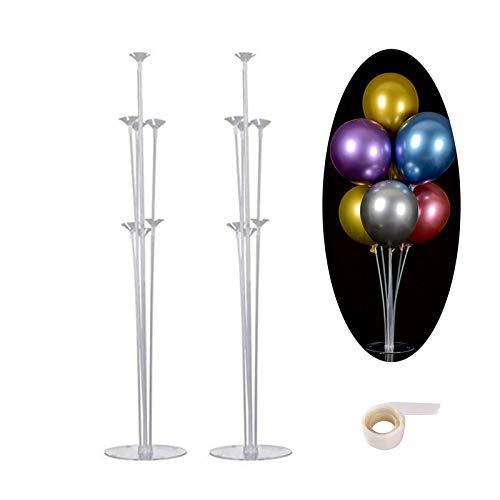 2 Juegos de Kit de Soporte de Globo Transparente, soporte globos de pie, para Fiesta Cumpleaños Evento Fiesta Bodas soporte globos, soporte globos mesa