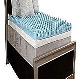 Comfort Essentials 4' Gel Textured Memory Foam Topper, Twin