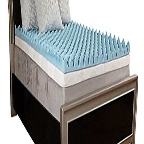 "Comfort Essentials 4"" Gel Textured Memory Foam Topper, Full"