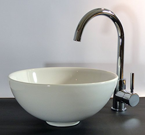 Keramik Aufsatz Waschbecken Waschschale rund 32cm