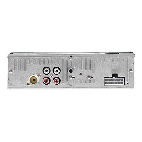 Asdomo - Estéreo de coche con Bluetooth de 12 V, pantalla LCD, reproductor de medios digitales, radio FM de audio de coche de 4 x 60 W, reproductor de MP3 dual USB/TFcard/AUX
