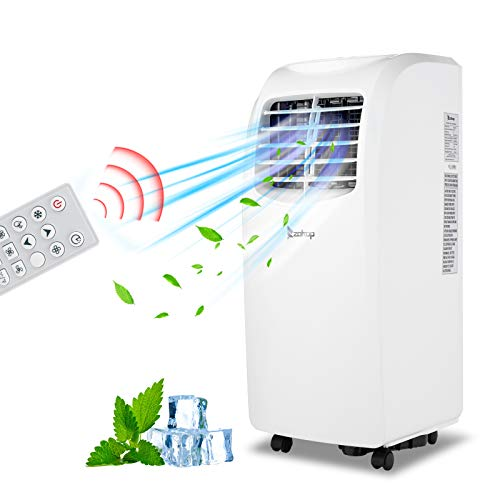 sunsoar 3-in-1 Portable Air Conditioner, 8000 BTU Air Conditioner Unit with Remote Control Dehumidifier Function, with Window Installation Kit For Room, Office, Dorm, Bedroom, White