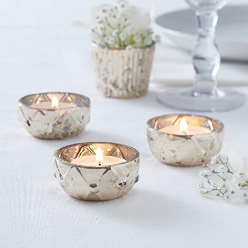 Ginger Ray- Tea Light Holders Perfecto para decoración de mesa, Color dorado (GW-703)