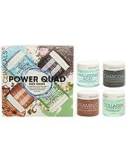 Advanced Clinicals Power Quad Face Masks Charcoal Mask, Vitamin C Mask, Collagen Mask, Hyaluronic Mask. 2oz each. Great gift set!