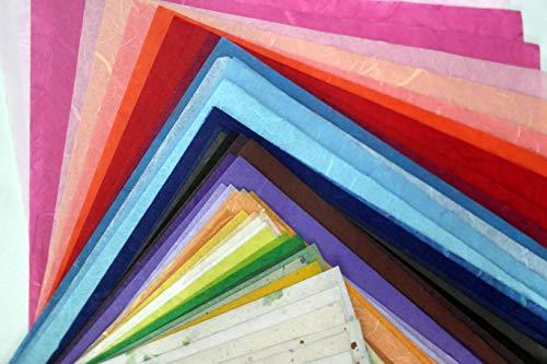 60Blatt 21,6x 27,9cm Maulbeer-Papier Tabelle Design Craft Hand Made Art Tissue Japan Origami Washi Wholesale Bulk Verkauf Unryu Herstellern Thailand Produkte Karte machen