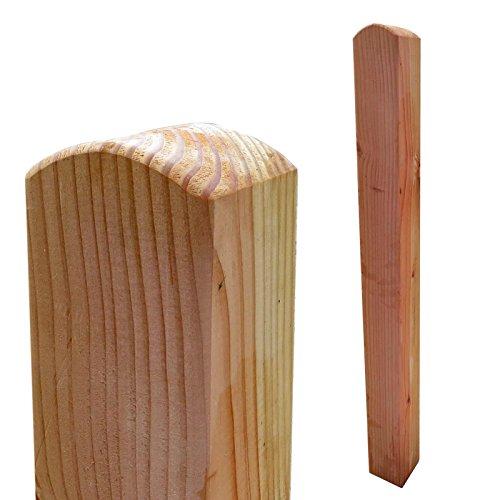 Zaunpfosten 9x9 cm 95 cm aus Lärchenholz Kopf gerundet Holz Lärche
