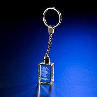 Personalized Crystal Picture Engraved Key Chain
